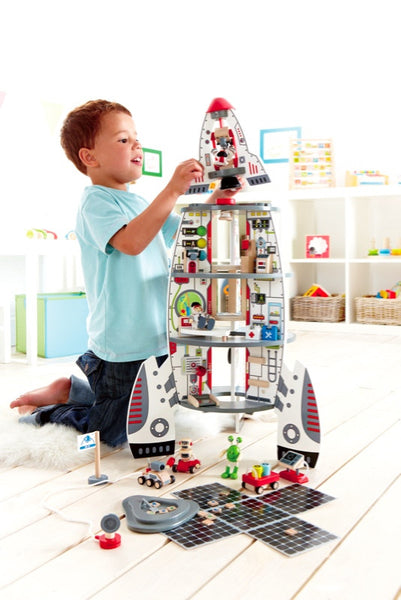 Hape -  Discovery Spaceship and Lift Off Rocket | KidzInc Australia | Online Educational Toy Store