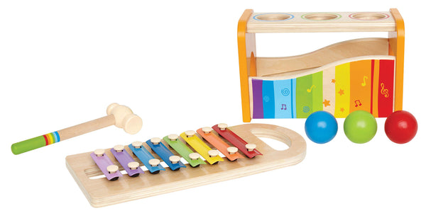Hape -  Early Melodies Pound and Tap Bench | KidzInc Australia | Online Educational Toy Store