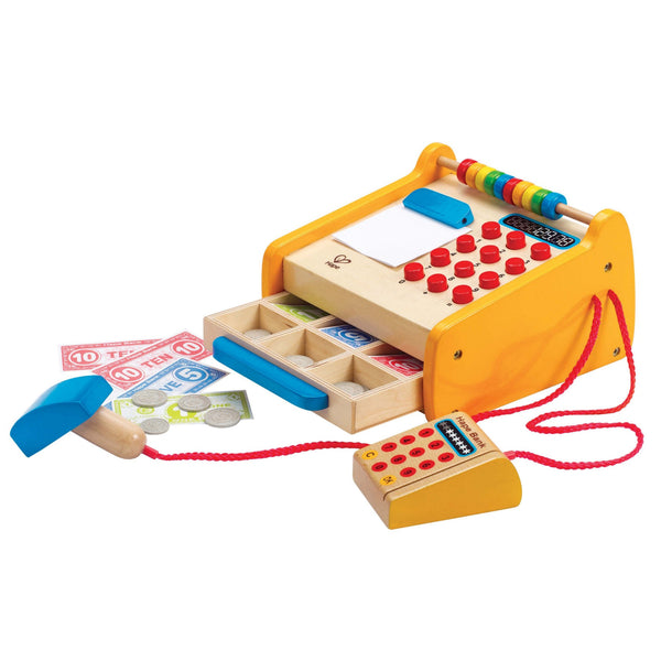 Hape -  Fresh Food Market Cash Register | KidzInc Australia | Online Educational Toy Store