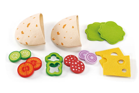 Hape -  Healthy Gourmet Pita Pocket | KidzInc Australia | Online Educational Toy Store