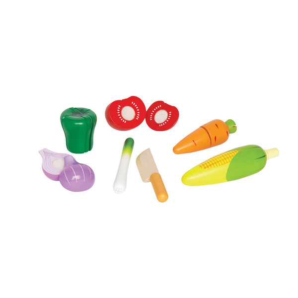 Hape -  Seasons Best Fresh Market Vegetables (Set of 11) | KidzInc Australia | Online Educational Toy Store