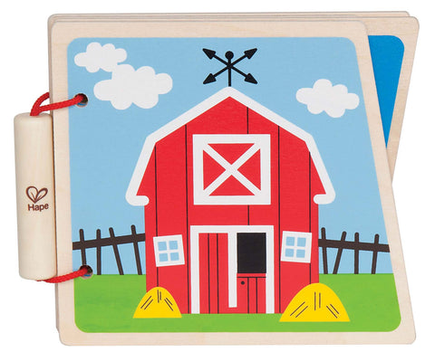 Hape Book Wood - At The Farm | KidzInc Australia | Online Educational Toy Store