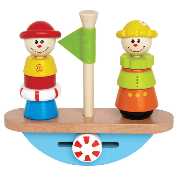 Hape - Balance Boat Wooden Stacking Toy | KidzInc Australia | Online Educational Toy Store