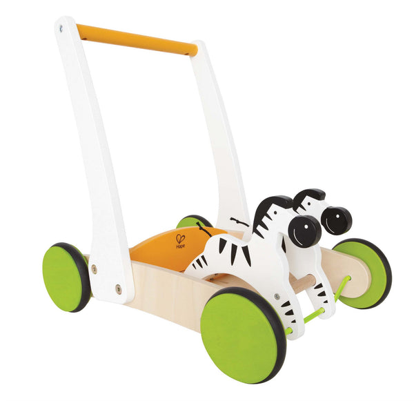 Hape - Galloping Zebra Cart | KidzInc Australia | Online Educational Toy Store
