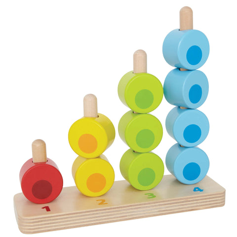 Hape - Counting Stacker | KidzInc Australia | Online Educational Toy Store