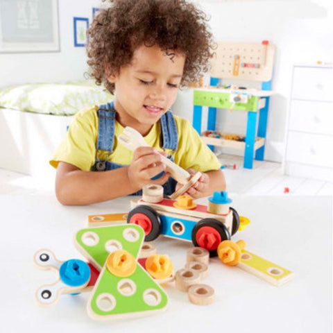 Hape Basic Builder Set (42 Pieces) | KidzInc Australia | Online Educational Toy Store