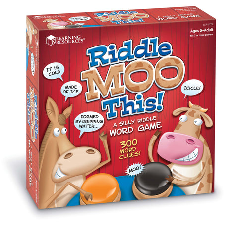 Learning Resources - Riddle Moo This! A Riddle Word Game | KidzInc Australia | Online Educational Toy Store