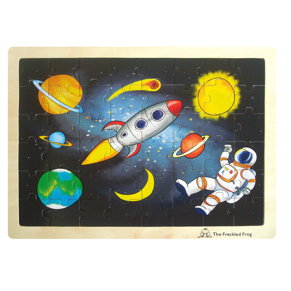 The Freckled Frog - Space Wooden Tray Puzzle | KidzInc Australia | Online Educational Toy Store
