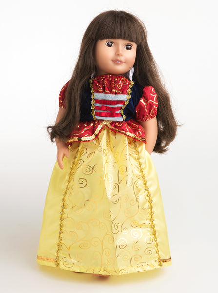 Little Adventures - Snow White Doll Dress | KidzInc Australia | Online Educational Toy Store