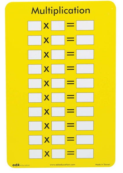 Edx Education - Multiplication Table Cards | KidzInc Australia | Online Educational Toy Store