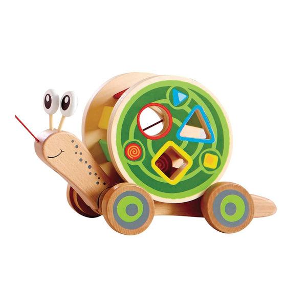 Hape - Snail Pull and Play Sorter | KidzInc Australia | Online Educational Toy Store