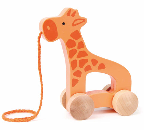 Hape - Push and Pull Giraffe | KidzInc Australia | Online Educational Toy Store