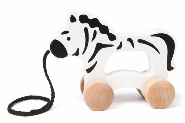 Hape - Push and Pull Zebra | KidzInc Australia | Online Educational Toy Store