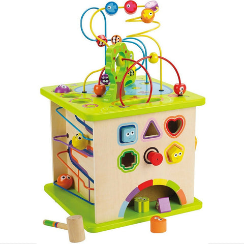 Hape - Country Critters Wooden Activity Play Cube | KidzInc Australia | Online Educational Toy Store
