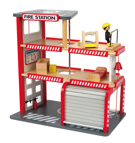 Hape - Fire Station | KidzInc Australia | Online Educational Toy Store