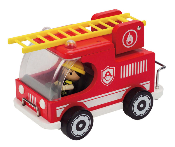 Hape - Fire Truck | KidzInc Australia | Online Educational Toy Store