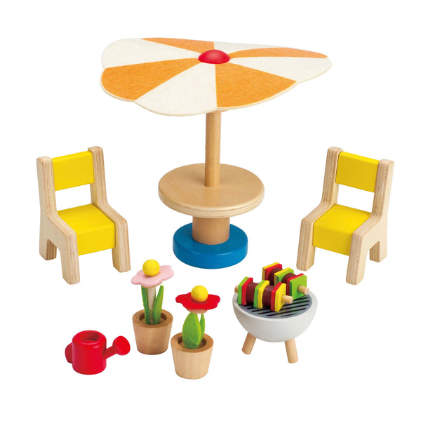 Hape - Doll House Furniture Patio Set | KidzInc Australia | Online Educational Toy Store