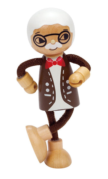 Hape -  Wooden Doll Grandfather | KidzInc Australia | Online Educational Toy Store