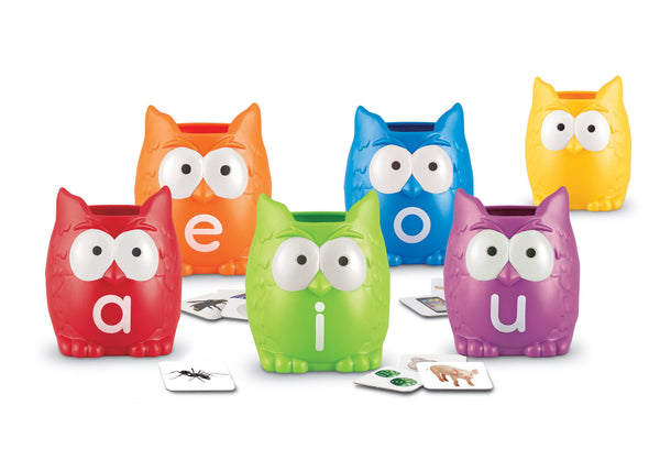 Learning Resources - Vowel Owls Sorting Set | KidzInc Australia | Online Educational Toy Store