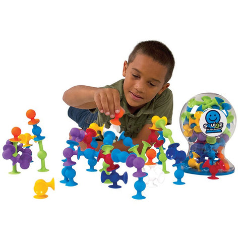 Fat Brain Toys - Deluxe Squigz 50 Pieces | KidzInc Australia | Online Educational Toy Store