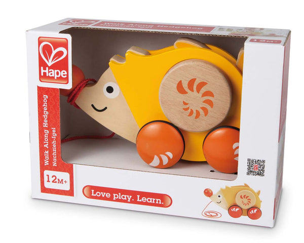 Hape - Walk Along Hedgehog | KidzInc Australia | Online Educational Toy Store