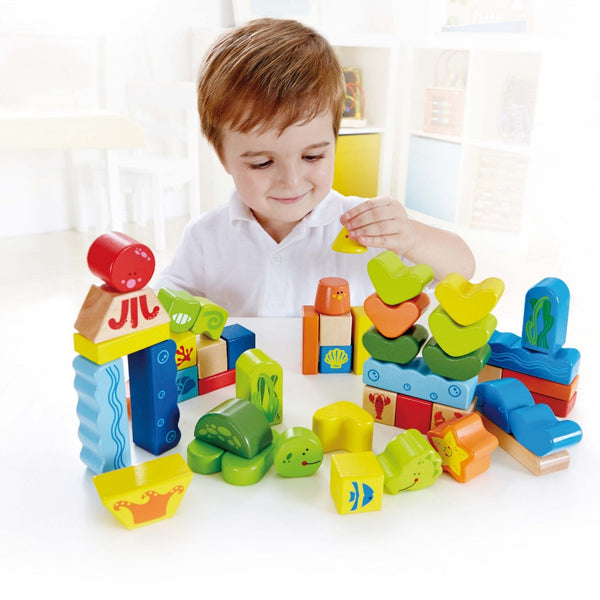 Hape - Under The Sea Blocks | KidzInc Australia | Online Educational Toy Store
