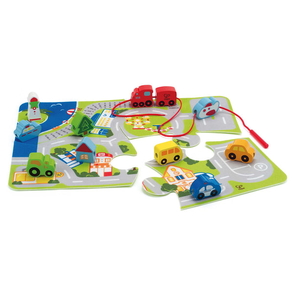 Hape - Busy City Play Set | KidzInc Australia | Online Educational Toy Store