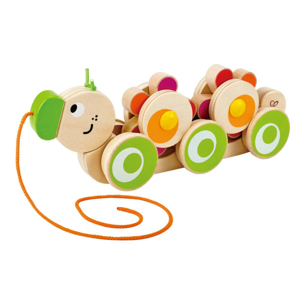 Hape - Walk-A-Long Caterpillar | KidzInc Australia | Online Educational Toy Store
