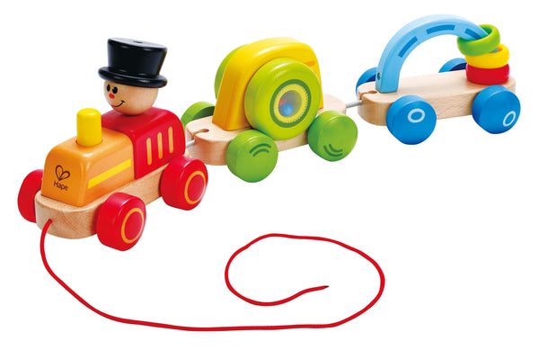 Hape - Triple Play Train | KidzInc Australia | Online Educational Toy Store