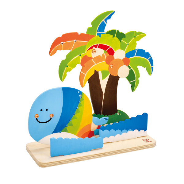 Hape - Tropical Island Paint and Play | KidzInc Australia | Online Educational Toy Store