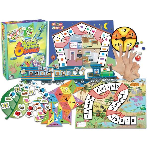 Junior Learning - Number Pattern Games, Set of 6 | KidzInc Australia | Online Educational Toy Store