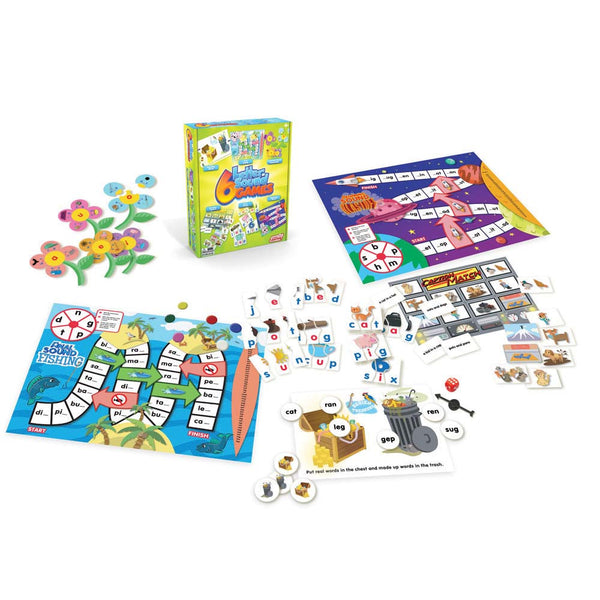 Junior Learning - Letter Sound Games, Set of 6 | KidzInc Australia | Online Educational Toy Store