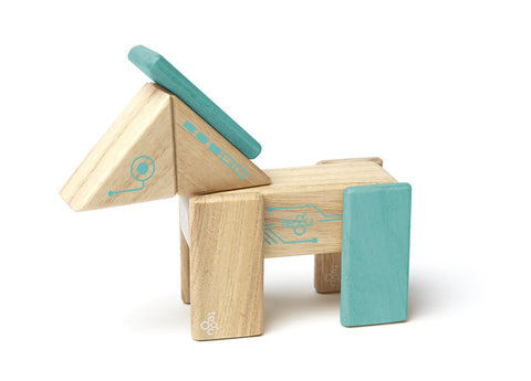 Tegu Future Robo Magnetic Wooden Block Set | KidzInc Australia | Online Educational Toy Store