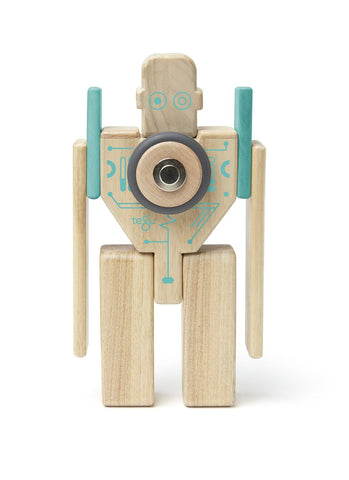 Tegu Future Magbot Magnetic Wooden Block Set | KidzInc Australia | Online Educational Toy Store