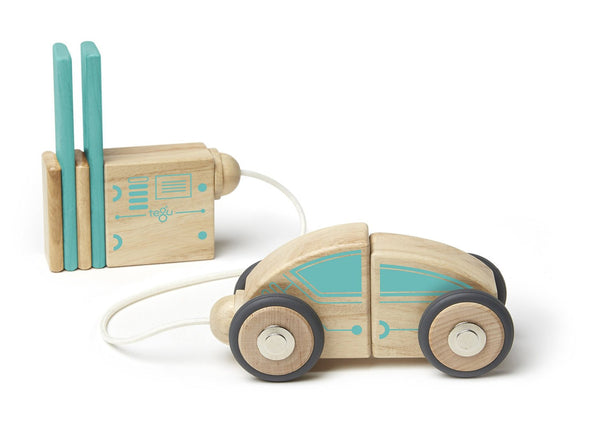 Tegu Future Circuit Racer Magnetic Wooden Block Set | KidzInc Australia | Online Educational Toy Store