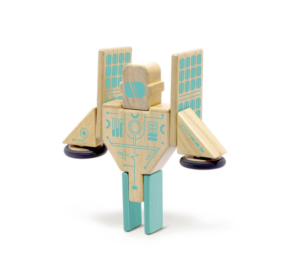 Tegu Future Magnetron Solar Station Magnetic Wooden Block Set | KidzInc Australia | Online Educational Toy Store