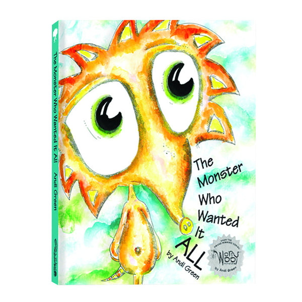 WorryWoo - The Monster Who Wanted It All Book | KidzInc Australia | Online Educational Toy Store
