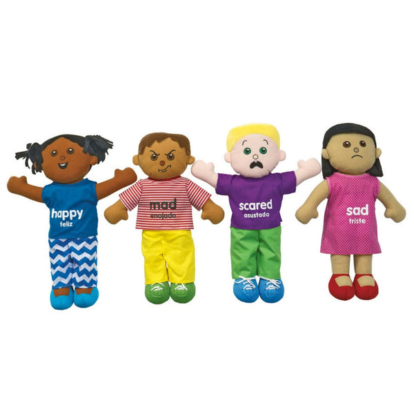 Excellerations Emotions Plush Dolls - Set of 4 | KidzInc Australia | Online Educational Toy Store