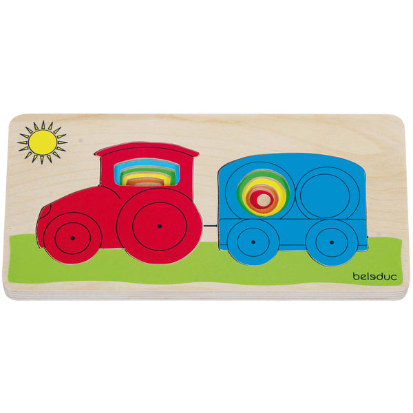 Beleduc - Tractor Layer Tray Puzzle | KidzInc Australia | Online Educational Toy Store