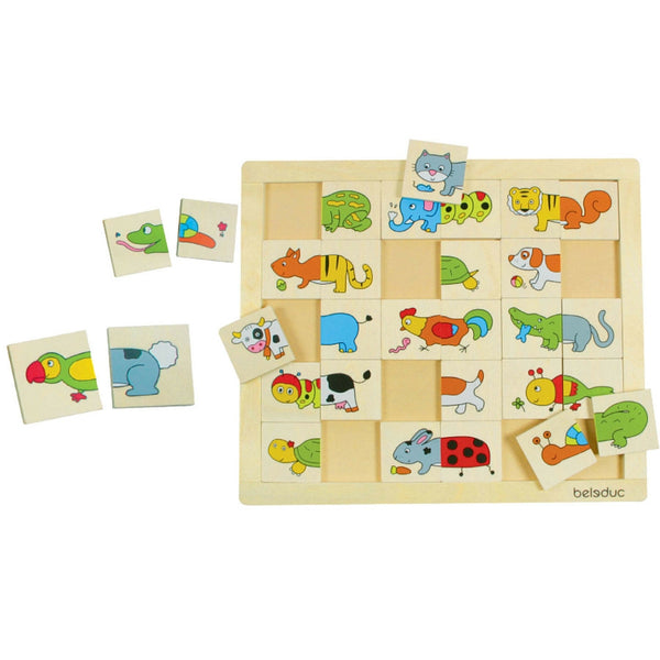 Beleduc - Match and Mix Animals Puzzle | KidzInc Australia | Online Educational Toy Store