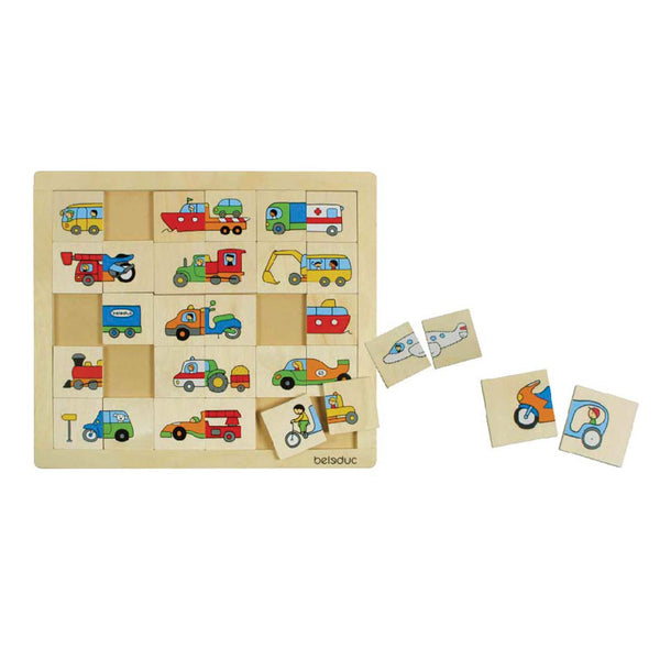 Beleduc - Match and Mix Transport Puzzle | KidzInc Australia | Online Educational Toy Store