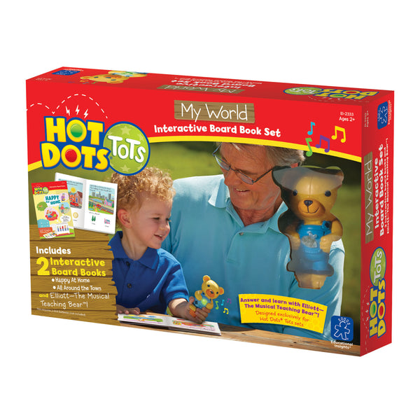 Educational Insights - Hot Dots Tots My World Board Interactive Book | KidzInc Australia | Online Educational Toy Store
