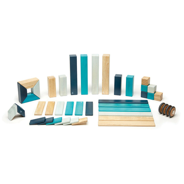 Tegu 42 Piece (Blues) | KidzInc Australia | Online Educational Toy Store