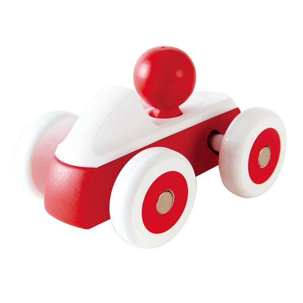 Hape - Rolling Roadster Red Wooden Toy Car | KidzInc Australia | Online Educational Toy Store