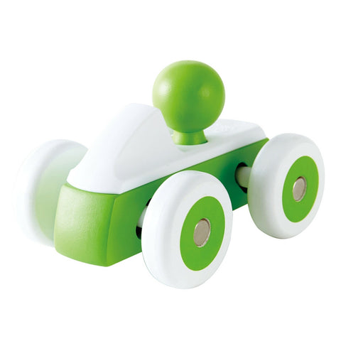 Hape - Rolling Roadster Green Wooden Toy Car | KidzInc Australia | Online Educational Toy Store