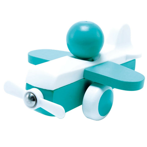 Hape - Sky Flyer Aqua Wooden Toy Plane | KidzInc Australia | Online Educational Toy Store