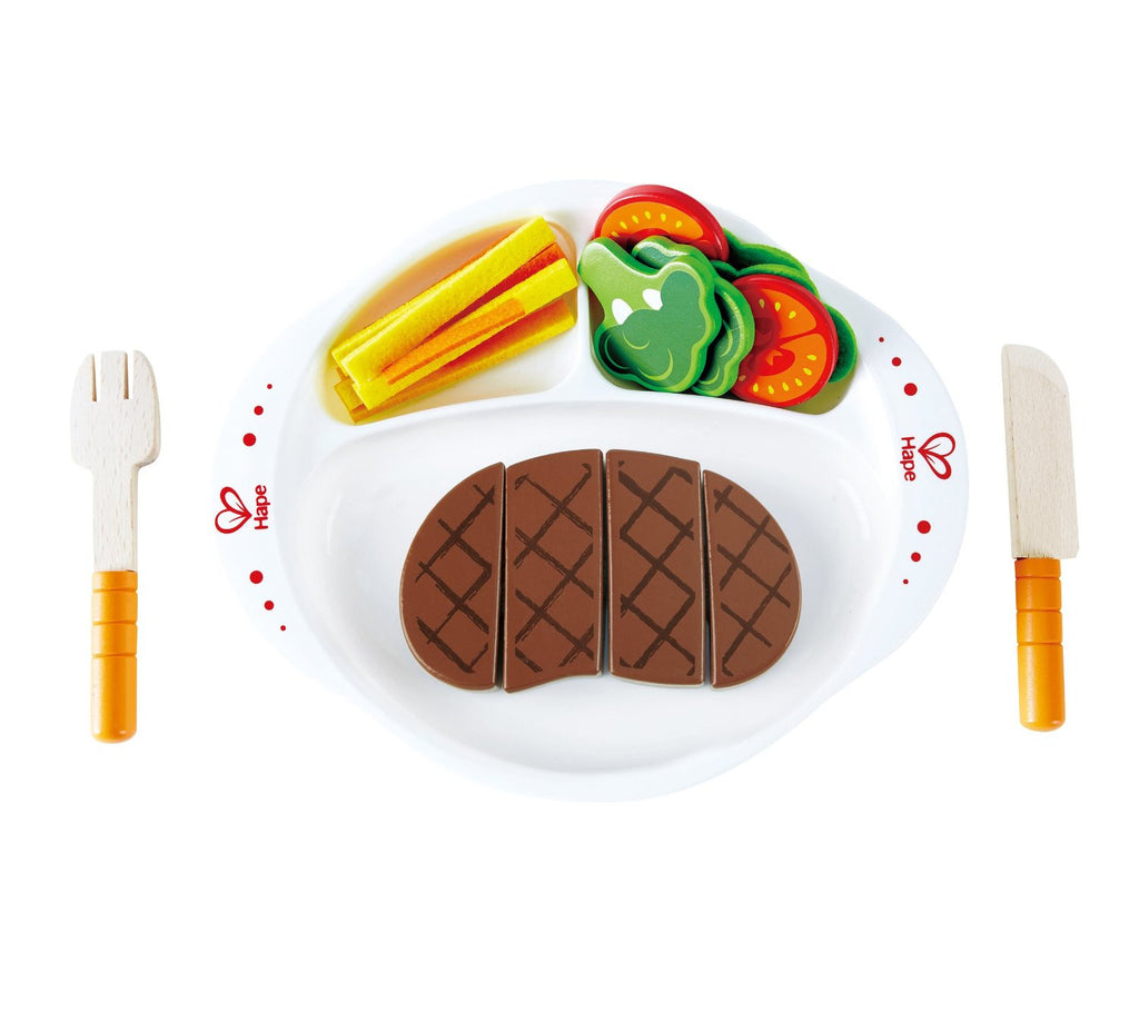 hape hearty homecooked meal wooden play food set kidzinc australia online