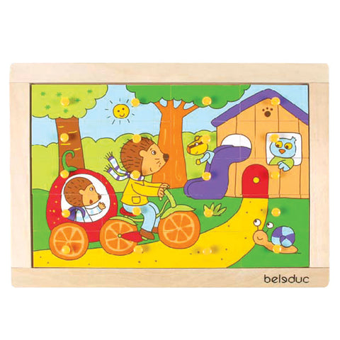 Beleduc - Hedgehog Wooden Puzzle | KidzInc Australia | Online Educational Toy Store