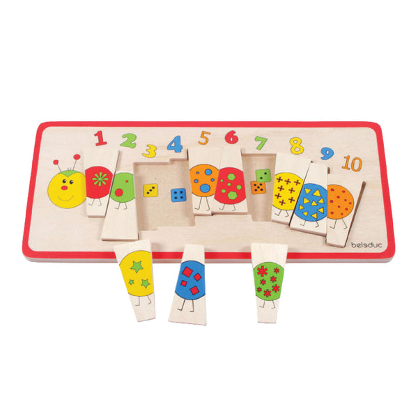 Beleduc - Caterpillar Matching Puzzle | KidzInc Australia | Online Educational Toy Store