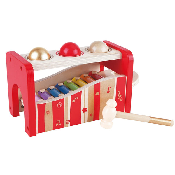 Hape - Pound and Tap Bench Music Set 30th Anniversary 2016 Limited Edition | KidzInc Australia | Online Educational Toy Store